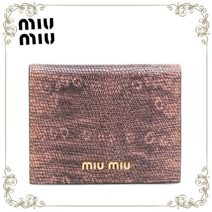 【17AW!新作!】★MiuMiu★lizard-effect wallet