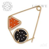LOEWE★ロエベ Small Double Meccano Pin Black/Orange/Gold