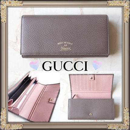 GUCCI high quality leather inside pink bifold wallet