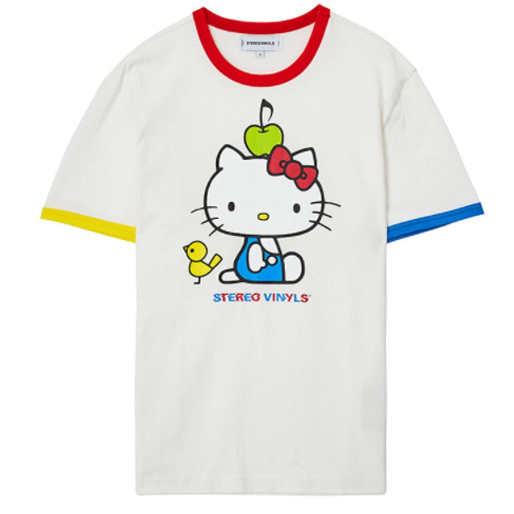 日本未入庫★STEREO VINYLS★Hello Kitty Color Block T-shirts