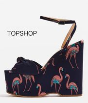 国内発送☆新作 TOPSHOP★WALTZ Flamingo Wedges★