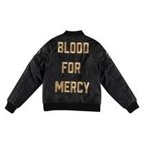 Blood For Mercy  BLACK GOLD BOMBER JACKET