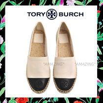Tory Burch☆期間限定セール★レザーCOLOR BLOCK ESPADRILLE