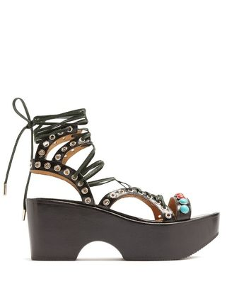 Boreeth lace up wedge sandals