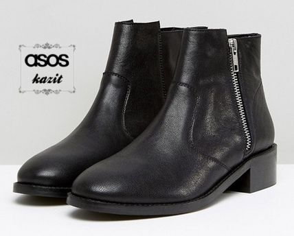 * ASOS * leather side ZIP ankle boots /BT