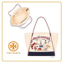 【2017ss SALE!!】Tory Burch ★ NAUTICAL キャンバストート