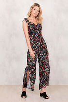CHIQUELLE(シケーレ) オールインワン・サロペット ★海外限定★CHIQUELLE(シケーレ)/Dark Floral Jumpsuit