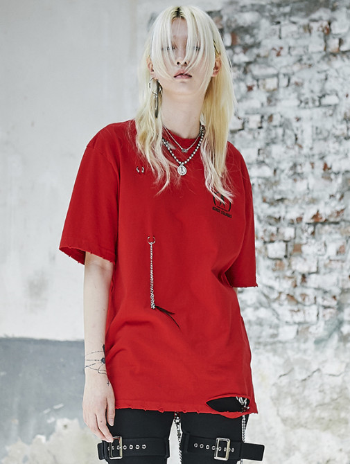 ◆ANOTHERYOUTH◆ piercing t - red