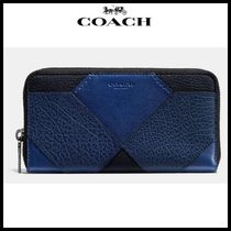 【Coach】 コーチ quilt accordion wallet in mixed leathers