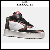 【Coach】 コーチ C210 wild lily leather sneaker