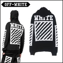 Off-White_正規品 BRUSHED DIAGONALS ZIPPED H BLACK