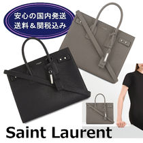 【送関込】SAINT LAURENT★Sac de Jour Souple Leather Tote S