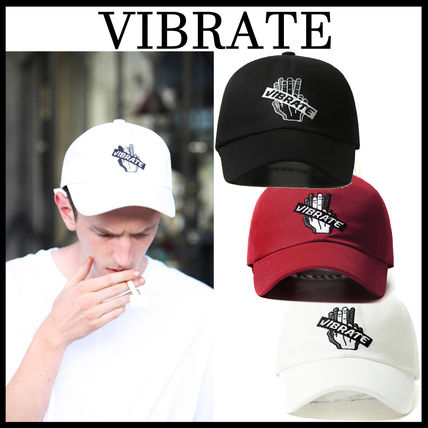 3色VIBRATE★バイブレート★EMBROIDERY BOX BALL CAP