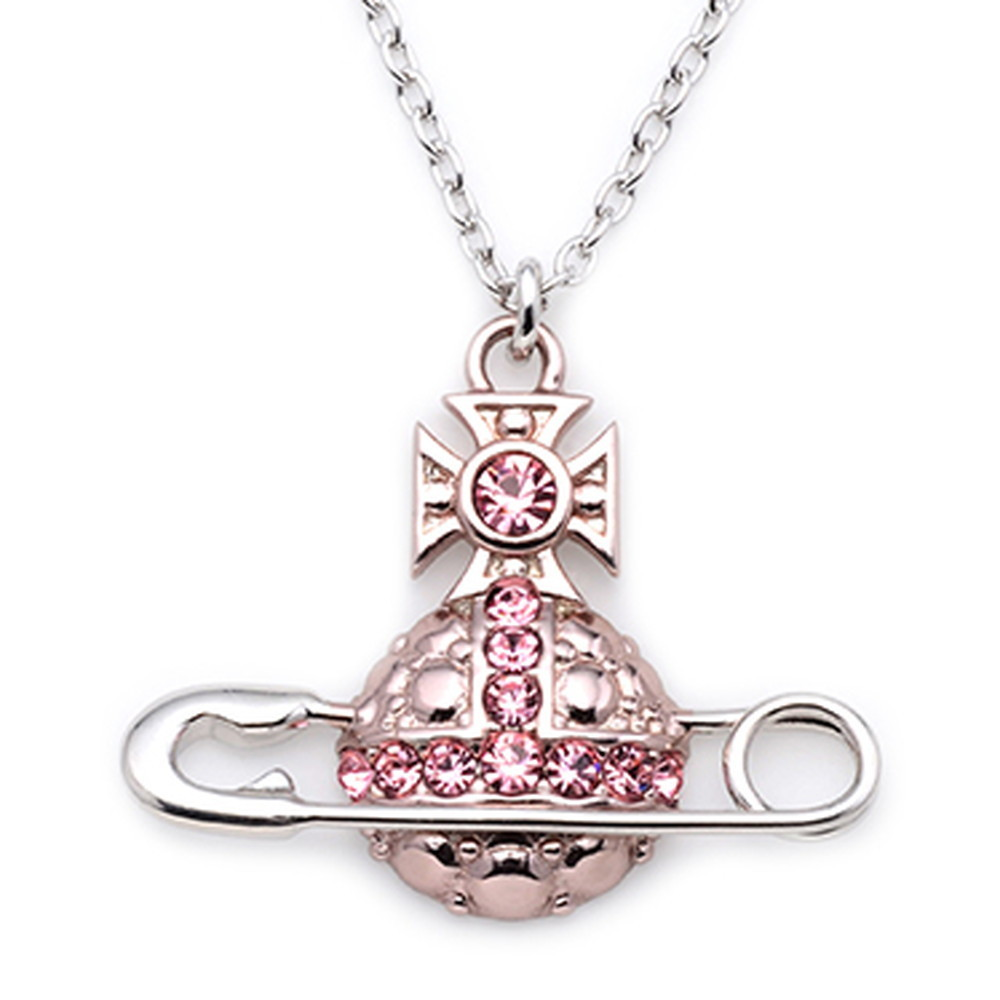 Vivienne Westwood ネックレス POLY PENDANT ライトローズ