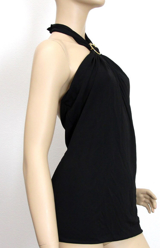 GUCCI★グッチ★素敵!BLACK HALTER TOP WITH HORSE HEAD DETAIL