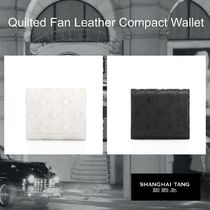 SHANGHAI TANG(シャンハイタン) 折りたたみ財布 SHANGHAI TANG/ Quilted Fan Leather Compact Wallet