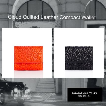 SHANGHAI TANG/ Cloud Quilted Leather Compact Wallet