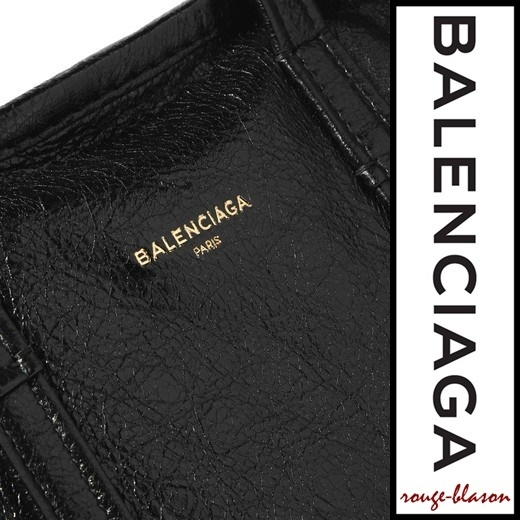 【国内発送】Balenciaga Bazar large cracked-leather shopper