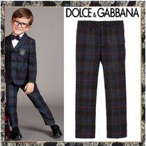 現地Sale! Dolce&Gabbana★Boys Grey チェックパンツ★2-12Y