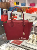 【超お買い得】 MICHAEL KORS★Mercer Large Satchel*CHERRY