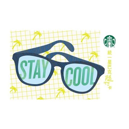 Taiwan limited STARBUCKS card sunglasses Palm