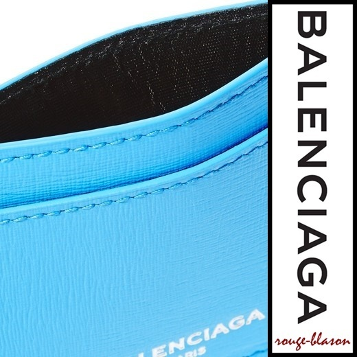 【国内発送】Balenciaga Textured-leather cardholder