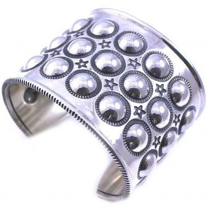 進化形Navajoアクセ★Cody Sanderson★Bubble Wrap Moon Cuff(S)