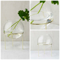 追跡・補償あり【宅配便】Glass Globe Planter + Tripod Stand