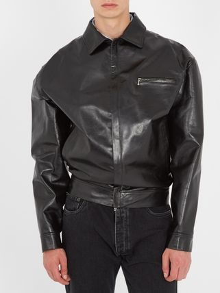 -Super cool-BALENCIAGA Wobble mens leather jacket