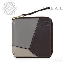 LOEWE★ロエベ Puzzle Small Wallet Grey Multitone