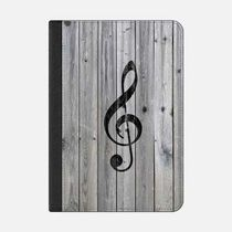 ★Casetify★iPadケース:VINTAGE WHITE MUSIC NOTE TREBLE CLEF