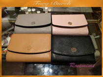 お勧めロゴ折財布Tory Burch PARKER MEDIUM FLAP WALLET★全5色