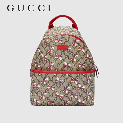 ∴Gucci∴ GG Supreme Backpack Sylvie Bow-children's
