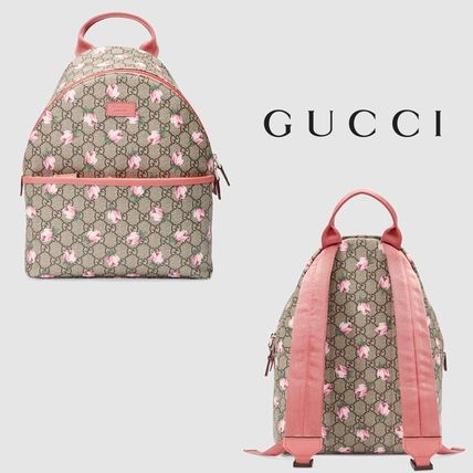 ∴Gucci∴ GG Supreme Backpack Flowers-children's
