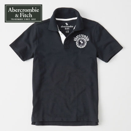 Abercrombie & Fitch トップス Abercrombie & Fitch アバクロ キッズポロシャツ crest polo