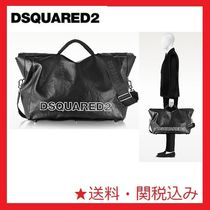 SALE★国内発送!!D SQUARED2  Black Leather Duffle Bag