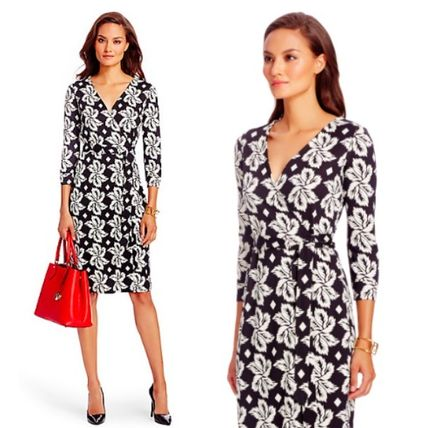 Sale DVF New Julian leaf print dress dress