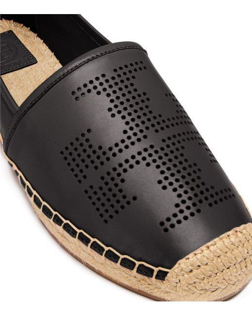 【Tory Burch] PERFORATED-LOGO ESPADRILLE