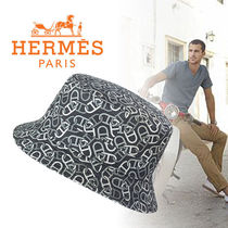 """HERMES(エルメス) """"James"""" Maillons Entremelesプリントハット"""