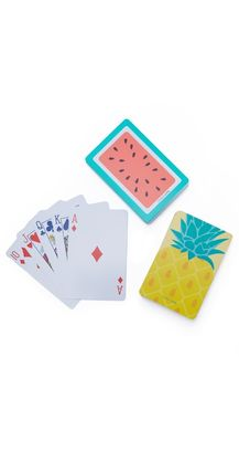 Playing cards in Sony life pineapples & watermelons