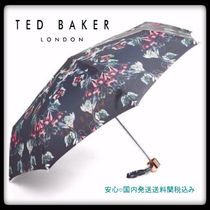 TED BAKER(テッドベイカー ) 傘・レイングッズ TED BAKER ☆ 送料込み!Blue Beauty 折りたたみ傘