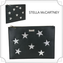 関税込☆Black silver DOCUMENT CASE/Stella McCartney