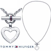 UK発!TOMMY HILFIGER♡メッセージ入HEARTトグルネックレス