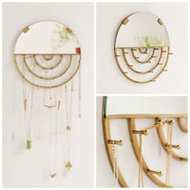 Urban Outfitters(アーバンアウトフィッターズ) インテリア雑貨・DIYその他 追跡・補償あり【宅配便】Aimee Jewelry Storage Hanging Mirror