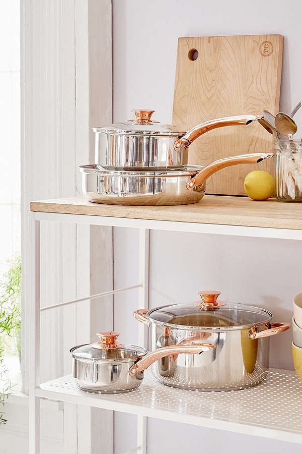 Urban Outfitters☆4-Piece Copper-Trimmed Cookware Set☆