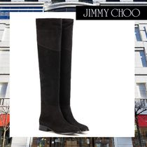 Jimmy Choo(ジミーチュウ) ロングブーツ 早期完売【Jimmy Choo】Miller Flat suede over-the-knee boots