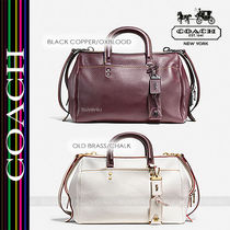 COACH★ROGUE SATCHEL IN GLOVETANNED PEBBLE LEATHER 86857