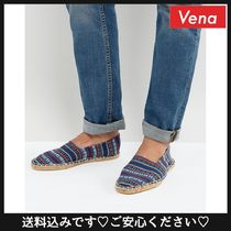 送料込☆ASOS Slip On Espadrilles In Navy Stripe