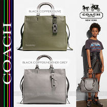 COACH★ROGUE SATCHEL 36 WITH COLORBLOCK SNAKE DETAIL 58965
