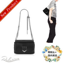 17AW★国内発送【Jimmy Choo】LOKETT PETITE Shoulder Bag/Black